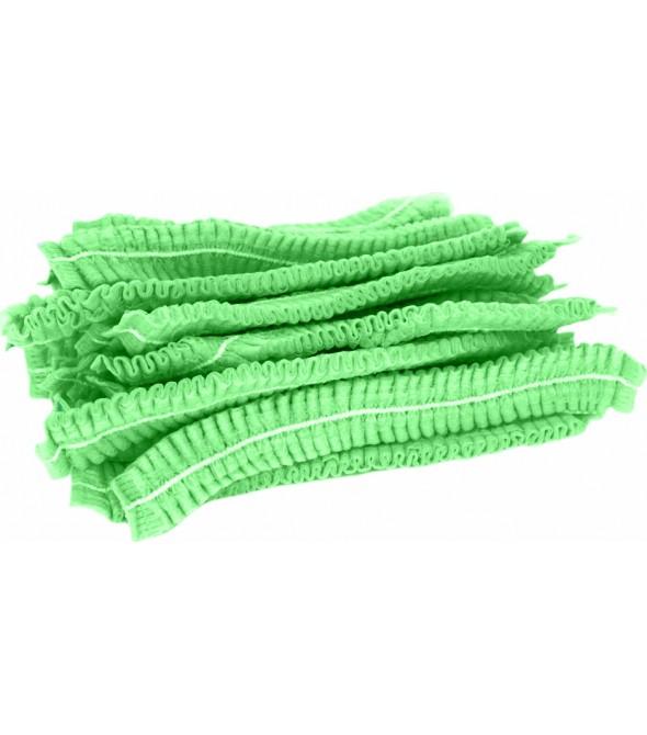 """Шапочка """"гармошка"""", зелена, 100 шт."""
